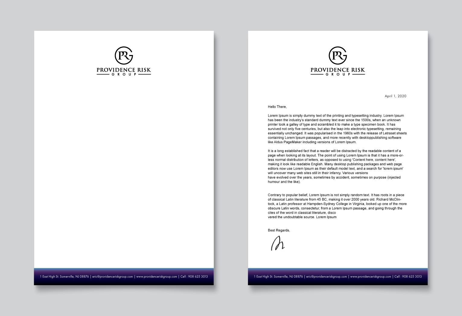 Letterhead & Presentation Folders