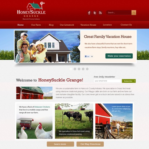 New website design wanted for Honeysuckle Grange
