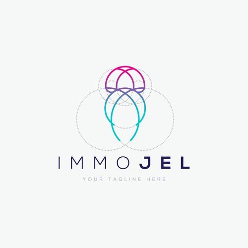 Simple and elegant jellyfish logo