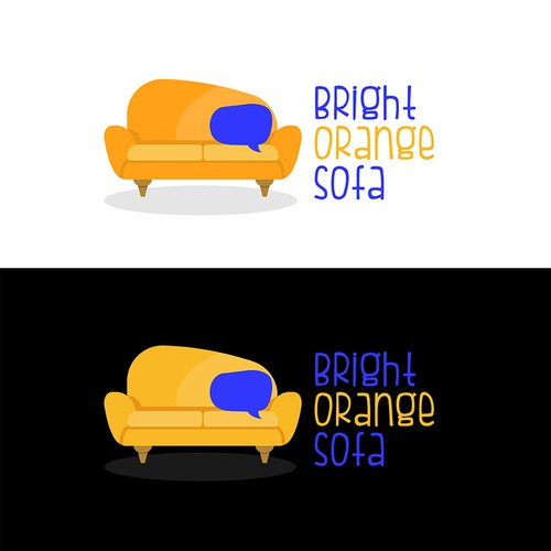 Brigh Orange Sofa Talk Show Logo