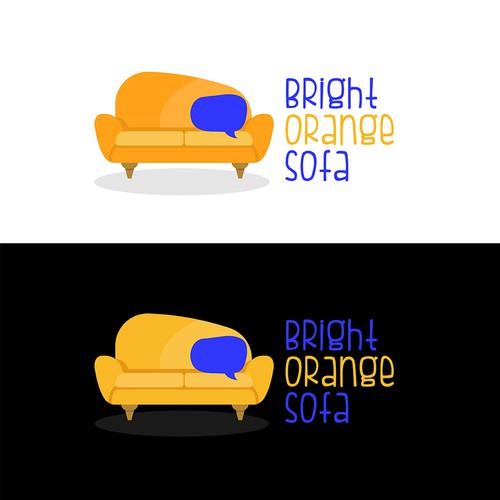 Brigh Orange Sofa Talk Show Logo