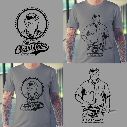 T-Shirt Design for  ClearWater plumbers industrial