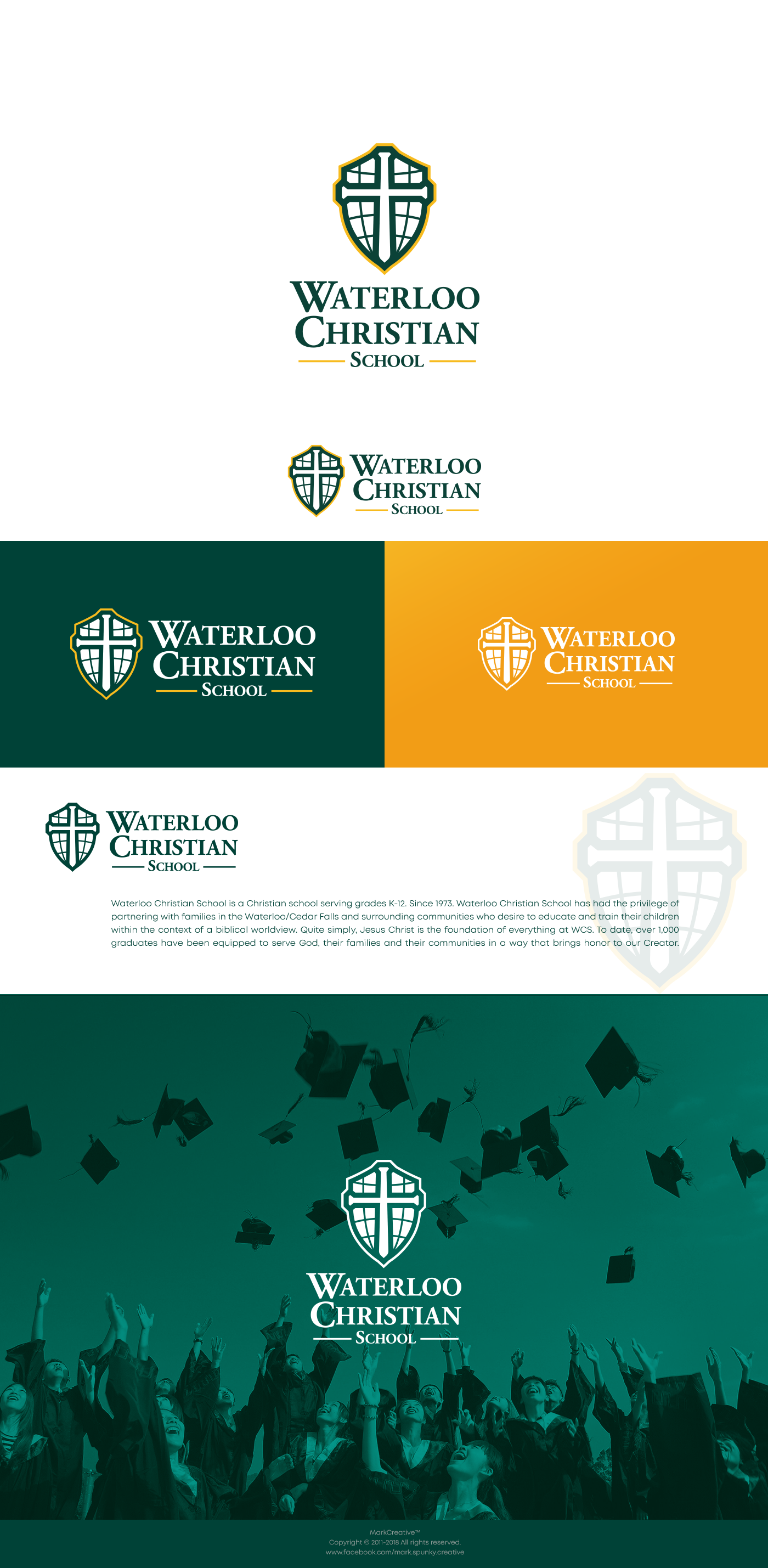 Get creative with our school logo! Clean, modern, and creative logo!