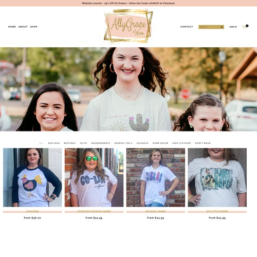 Website - Applique and Printed T-Shirts