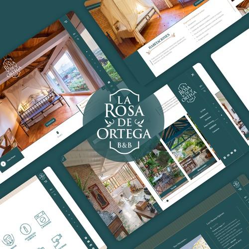 Website design for the B&B La Rosa de Ortega.