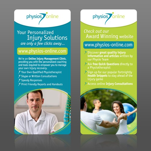 brochure design for Physios Online