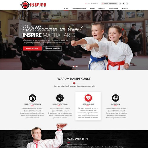 Martial Arts Web Design