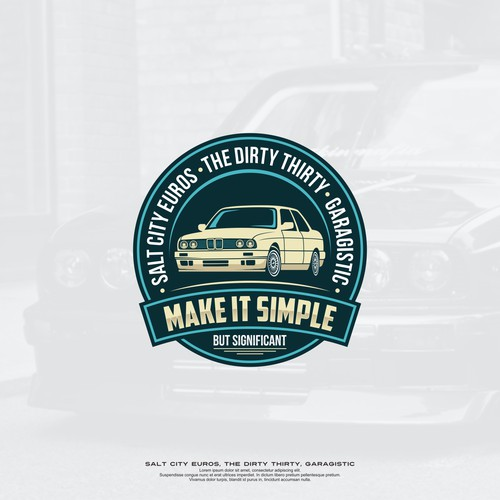 classic logo concepts for fan of old cars