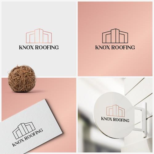 Knox Roofing logo design