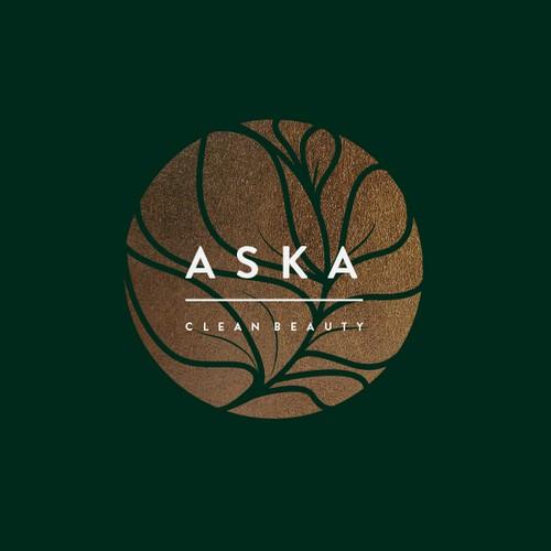 Trendy logo for ASKA - Natural Beauty Shop