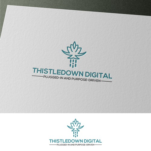 Simple logo for Thistledown Digital