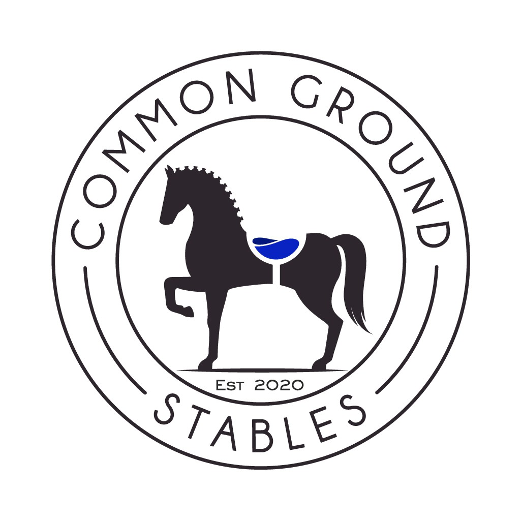Equestrian Facility Logo - Sophisticated yet relaxed place to ride horses and hang out