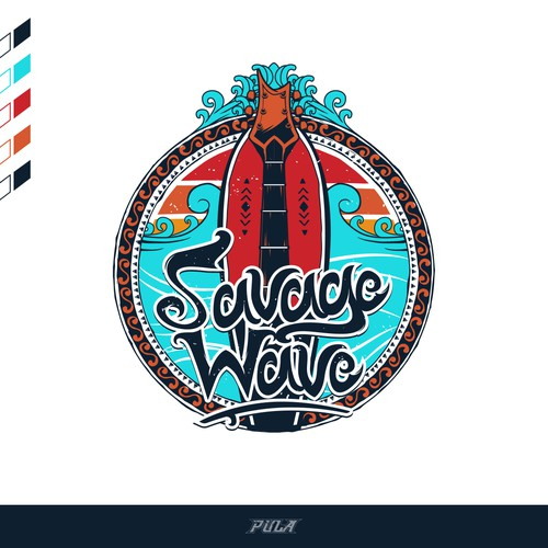 "Logo Design arrangement for a Music Group ""Savage Wave""."
