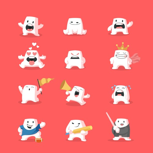 Marshmallow Character Design