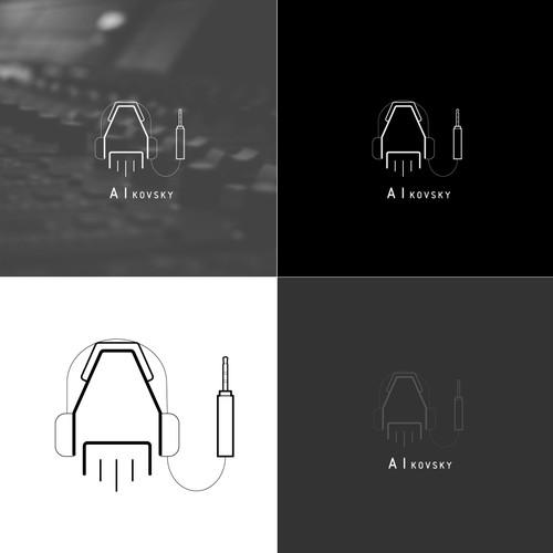 Logo concept for composing music using AI