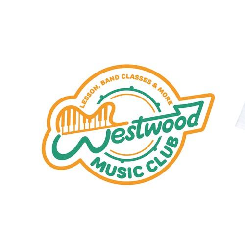 Westwood music club logo concept