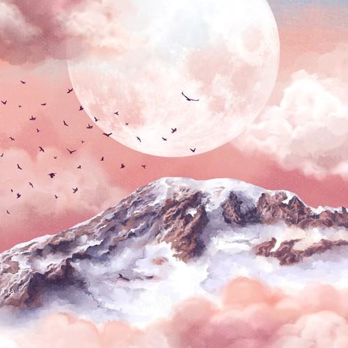 Landscape poster illustration