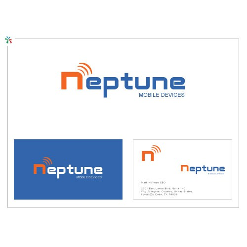 logo design of a mobile technology company