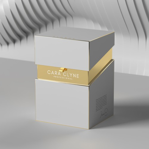 Luxurious packaging box for a high end hairdressing mannequin head