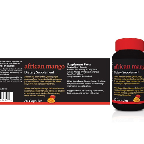 Whole Seed African Mango needs a new print or packaging design