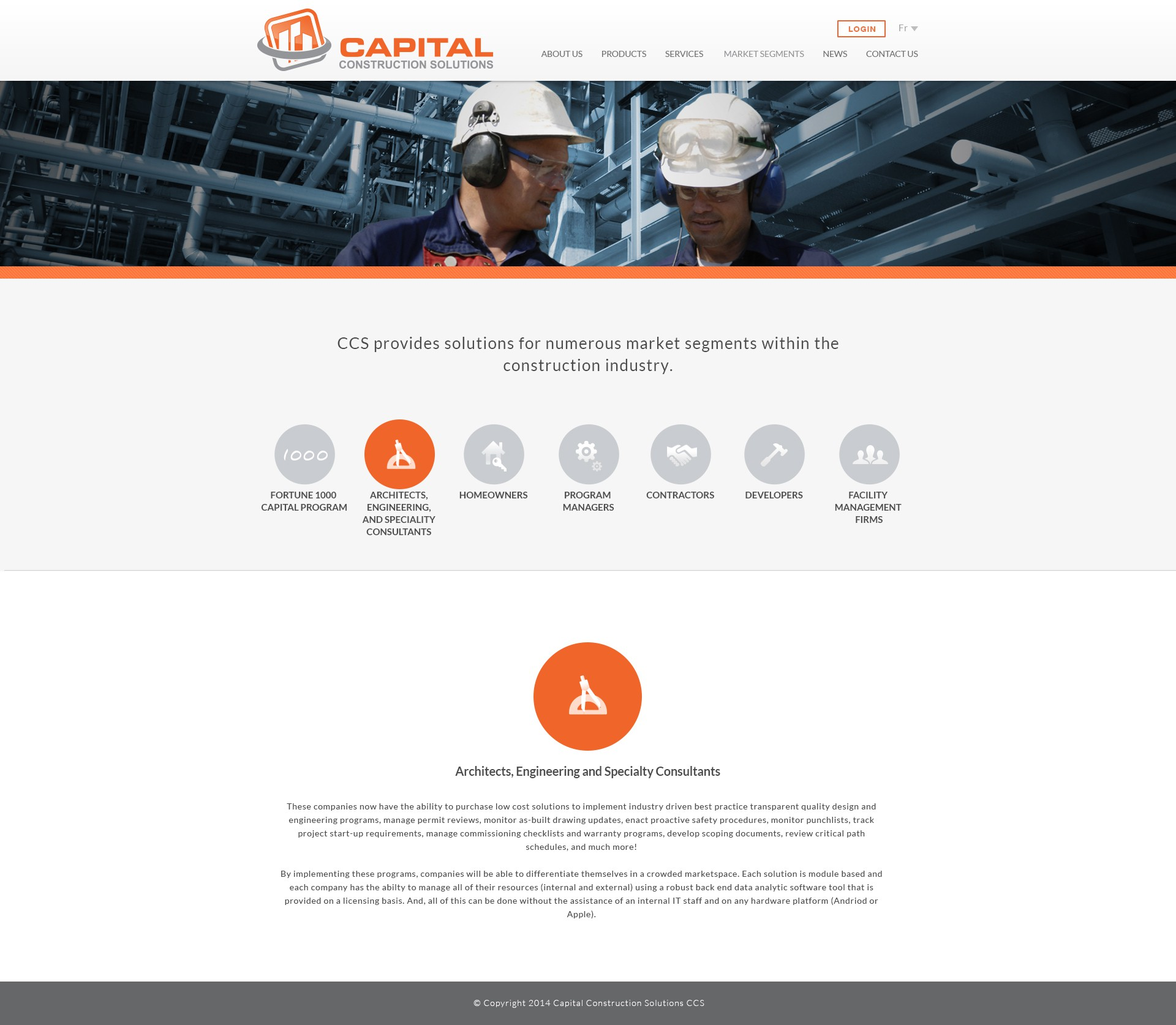 Start-up, Mobile Based Construction Company's Website