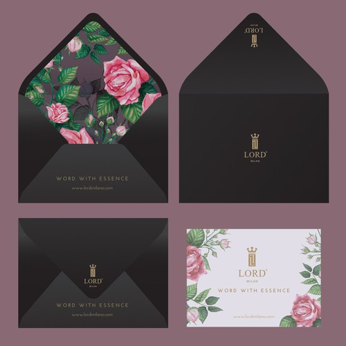 Elegant Gift Card for LORD, a Perfume Luxurious Brand