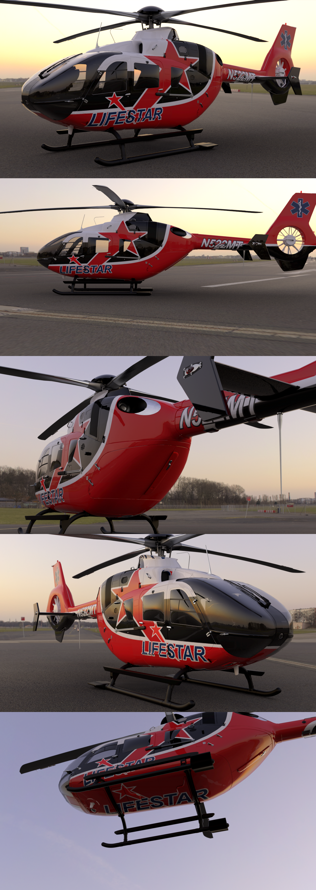 Creative Helicopter Paint Design Concept