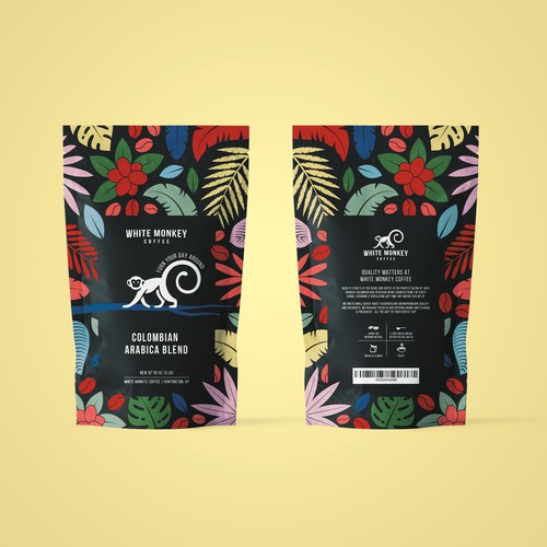 Packaging for White Monkey Coffee