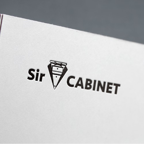 Logo for a kitchen & bath cabinet company