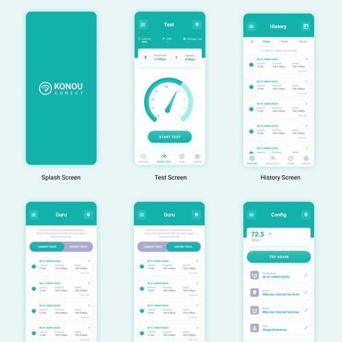 Konou Conect mobile app design