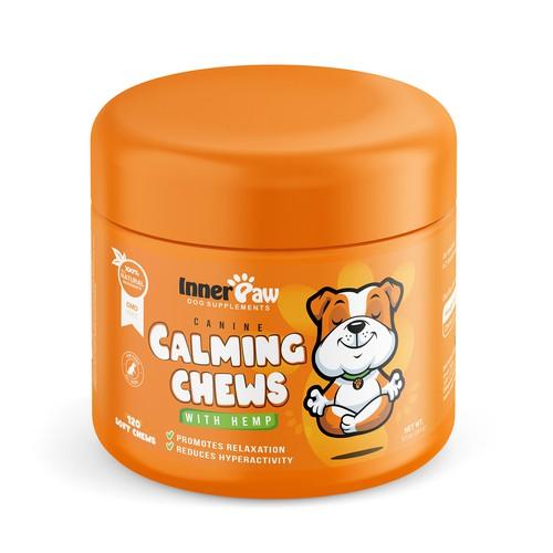 Dog Health Supplement Chews Label Designs