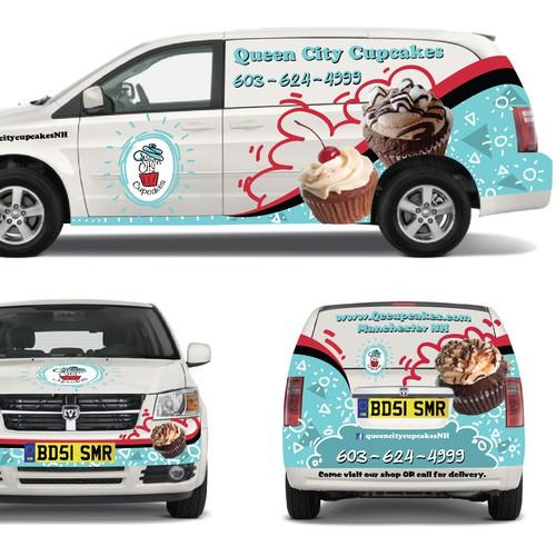 Queen City Cupcakes Delivery Van Design