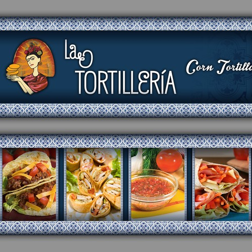 Banner for selling Mexican Tortillas at our Markets Stall