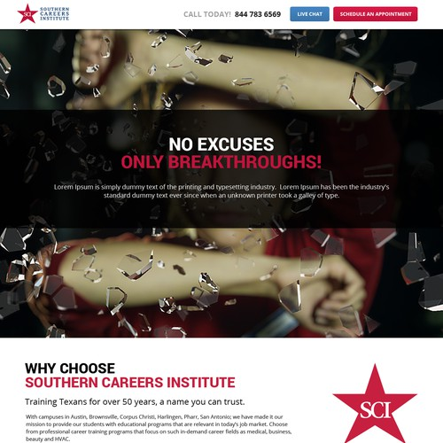 Create a high-converting page for prospective students!