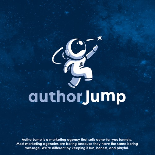 """authorjump"" Logo Concept"