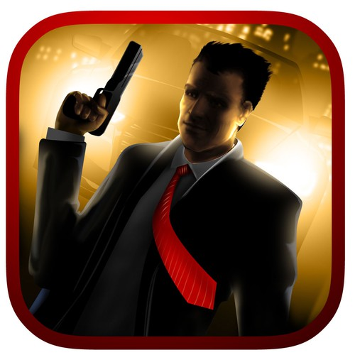 Create an exciting App Store logo for a mafia style rpg game