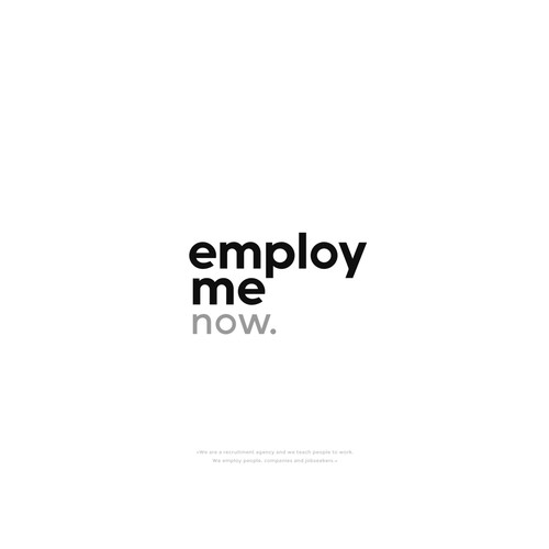 "Wordmark for ""employ me"""