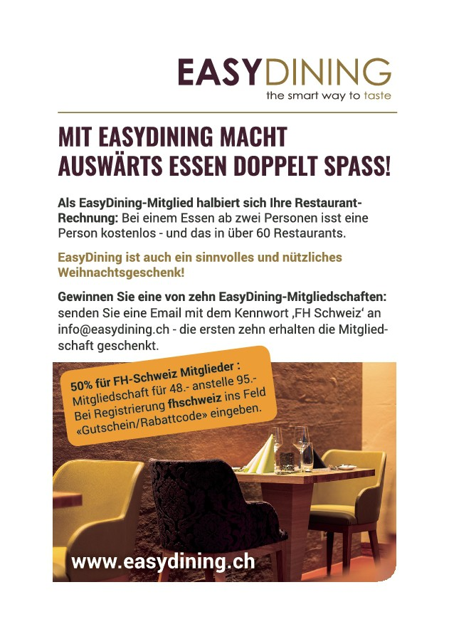 Create a Magazine Ad for EasyDining