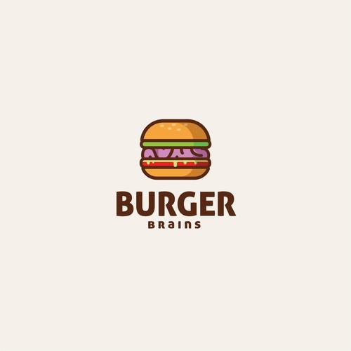 delicious logo for concept for Burger brains.
