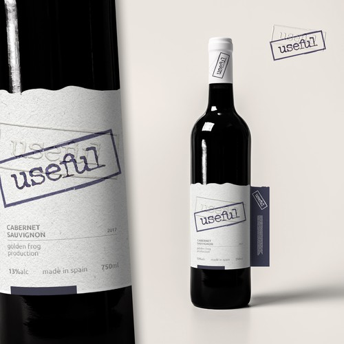 Label design for Useful wines
