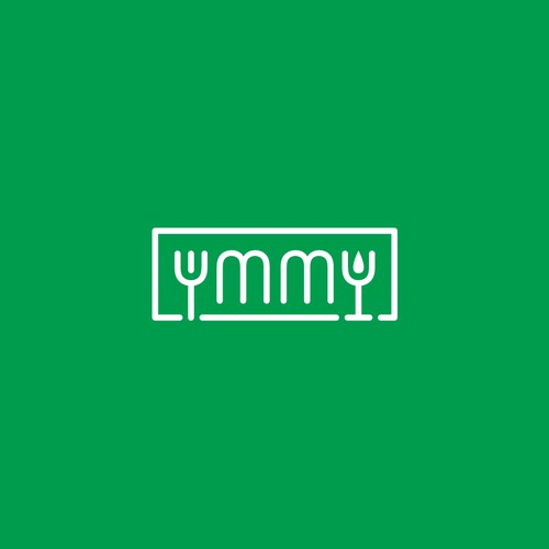 Modern logo for Ymmy, an online food shop