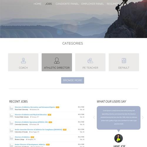 Landing page - Job agency