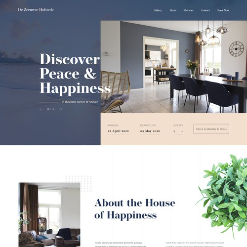 Home page for a Holiday House