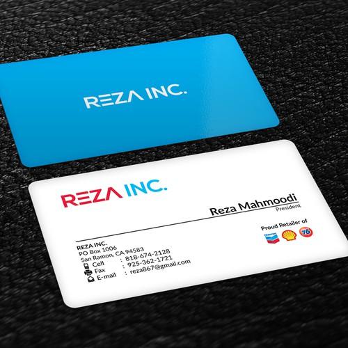 Reza Inc. Business Card