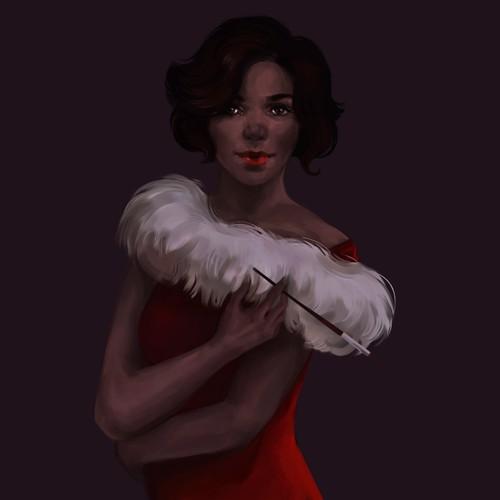 Retro Glam Woman Illustration