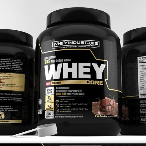 label design for Whey Industries