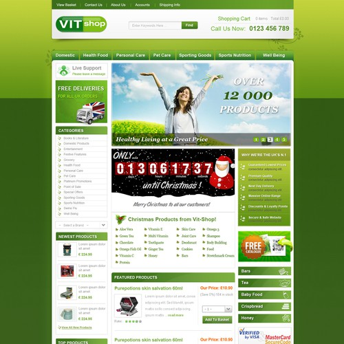 Natural eco products needs a new website design
