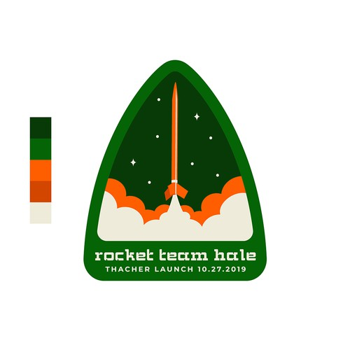 Design for Rocket Team Hale sticker and sign