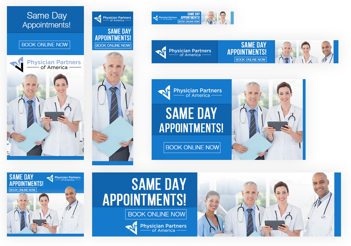 Ad roll retargeting - Same Day Appointments