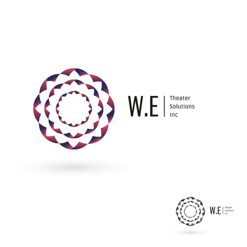A fresh, enticing logo for W.E. Theater Solutions Inc. (Home Theater company)